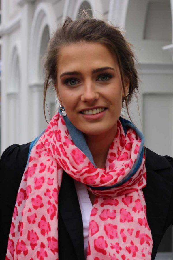Pantersjaal-roze