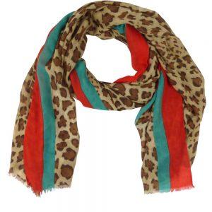 Sjaal-panterprint-bruin