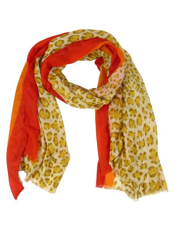 Sjaal-panterprint-geel
