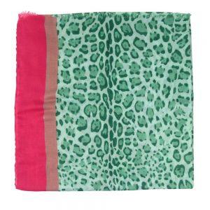 Sjaal-panterprint-groen-liggend