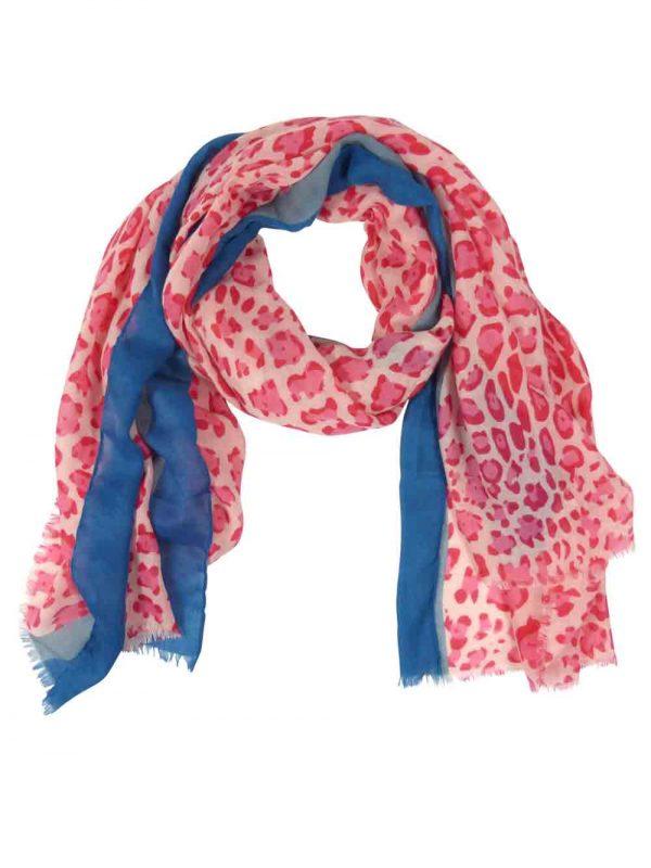 Sjaal-panterprint-roze