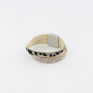 ZILLA-armband-kristal-met-dierenprint-combi