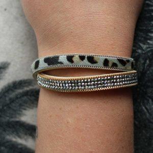 ZILLA-armband-kristal-met-dierenprint-combi-liggend