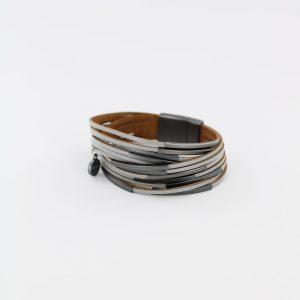 Zilla-armband-leer-met-metalen-buisjes-blauwgrijs